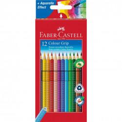 Creioane Colorate Faber-Castell Grip 2001, 6 culori
