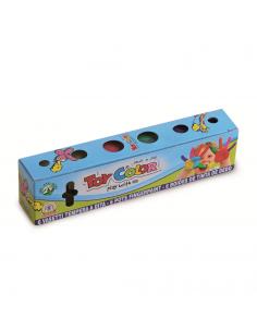 Set tempera pentru degete Toy Color 25ml, 6 culori