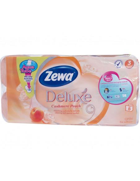 Hartie igienica Zewa Deluxe Cashmere Peach, 3 straturi, 8