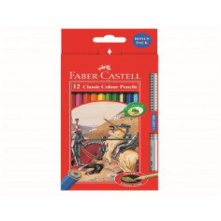 Creioane Colorate Faber-Castell, 12 Culori + 1 Grip 2001