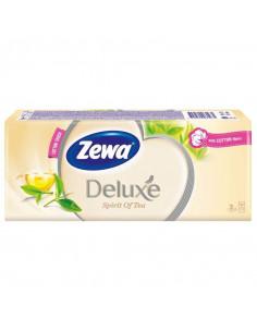 Batiste nazale Zewa Deluxe Spirit of Tea, 3 straturi, 10 buc/bax