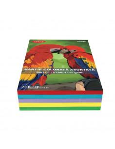 Hartie Colorata Daco Hr800 A4 500 Coli 5 Cul  80G/Mp