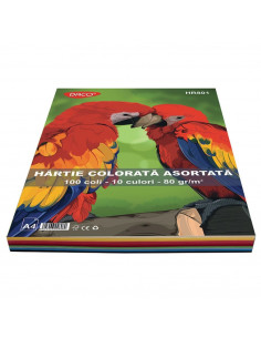 Hartie Colorata Daco Hr801 A4 100 Coli 10 Cul  80G/Mp