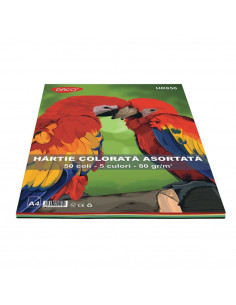 Hartie Colorata Daco Hr850 A4 50 Coli 5 Cul  80G/Mp