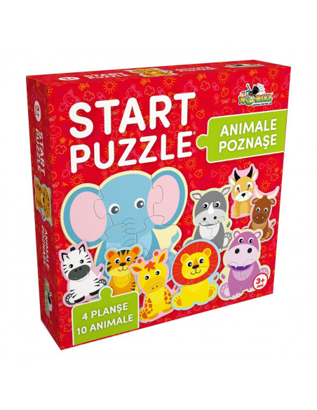 Animale Poznase, Puzzle 4 In 1 Noriel, 25 Piese