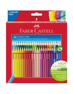 Creioane Colorate Faber-Castell Grip 2001, 48 Culori