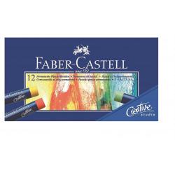 Creioane Ulei Pastel Faber-Castell, 12 Culori