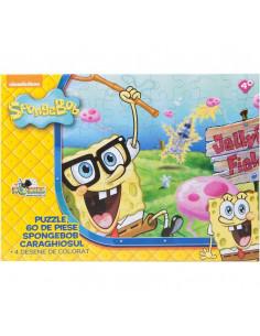 Spongebob Caraghiosul, Puzzle Noriel, 60 Piese + 4 Desene De