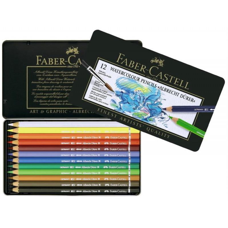 Creioane colorate Faber-Castell Acuarela A.Durer, cutie din