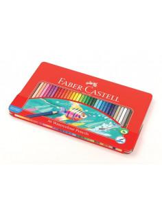Creioane Colorate Acuarele Faber-Castell, 36 Buc, cu Pensula, Cutie Metal