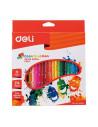 Creioane Colorate Deli, 24 Culori Color Emotion