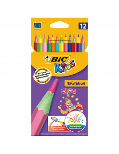 Creioane colorate BIC  Evolution Circus, 12 buc/set