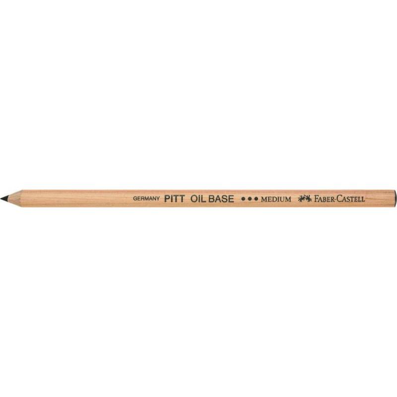 Creion Ulei Pastel Pitt Faber-Castell Mediu, Negru
