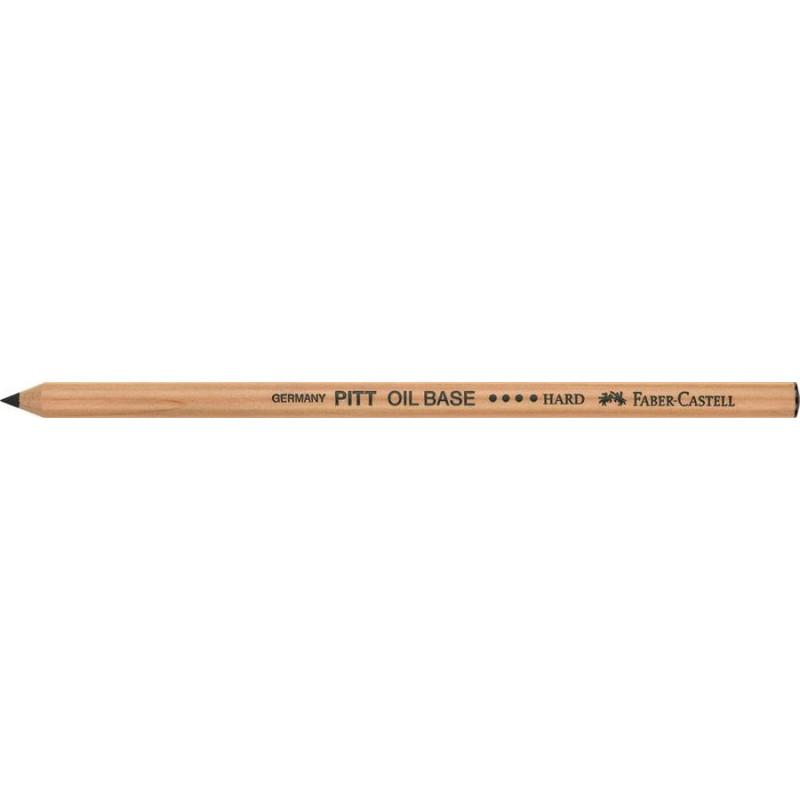 Creion Ulei Pastel Pitt Faber-Castell Dur, Negru
