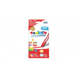 Set creioane cerate Carioca Oil Pastel Maxi, 12 buc/cutie