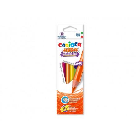 Creioane color triunghiulare Neon 6/set
