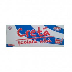 Creta scolara alba , patrata clasica, 100 buc/cutie
