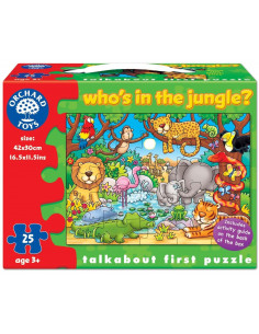 Puzzle Orchard Toys Cu Activitati Cine Este In Jungla? Who'S In The Jungle?