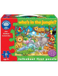 Puzzle Orchard Toys Cu Activitati Cine Este In Jungla? Who'S In The Jungle?