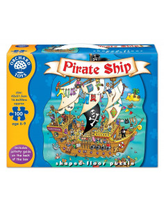 Puzzle Orchard Toys De Podea Corabia Piratilor Pirate Ship, 100