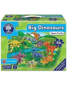 Puzzle Orchard Toys De Podea Dinozauri 50 Piese Big Dinosaurs, 50 Piese