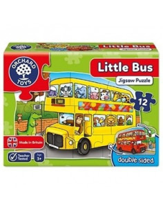 Puzzle Orchard Toys Fata Verso Autobuz Little Bus,12 Piese