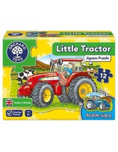 Puzzle Orchard Toys Fata Verso Tractor Little Tractor, 12 Piese