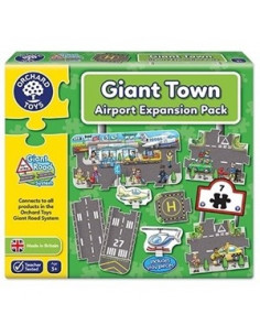 Puzzle Orchard Toys Gigant De Podea Aeroport 9 Piese Giant Road Expansion Pack Airport