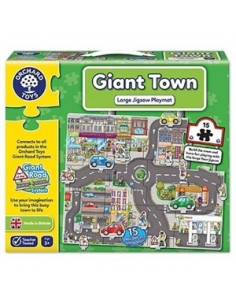 Puzzle Orchard Toys Gigant De Podea Orasul Giant Town Jigsaw, 15 Piese