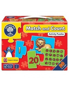 Puzzle Orchard Toys Potriveste Si Numara De La 1 La 20 Match And Count