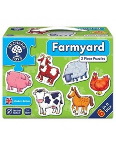 Set 6 Puzzle Orchard Toys Ferma Farmyard, 2 Piese