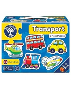 Set 6 Puzzle Orchard Toys Transport, 2 Piese