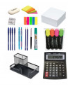 Set Birou 8 - Calculator, Suport Instrumente De Scris, Notes