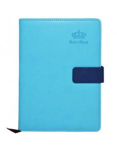 Set Office 11 - Agenda A5 Nedatata Albastra cu magnet, 120 File