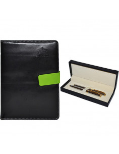 Set Office 11 - Agenda A5 Nedatata Neagra cu magnet, 120 File