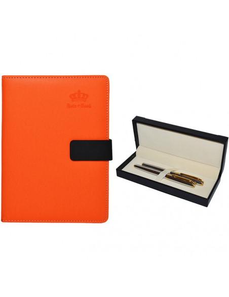 Set Office - Agenda A5 Nedatata Portocalie cu magnet, 120 File