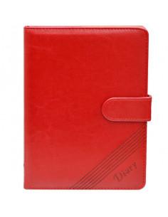 Set Office - Agenda A5 Nedatata Rosie cu magnet, 120 File cu