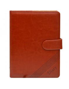 Set Office 10 - Agenda A5 Nedatata Maro cu magnet, 120 File cu