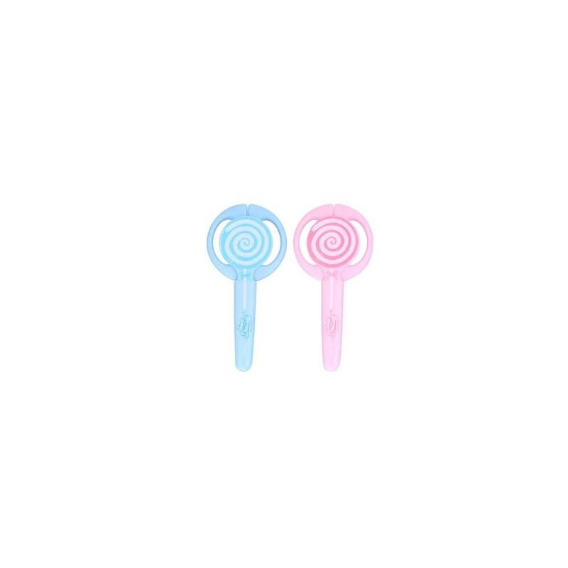 Foarfeca Scolara Deli Cu Protectie Lollypop, Albastra