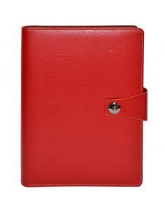 Set Office 3 - Agenda A5 Nedatata cu buton Rosie, 100 File cu
