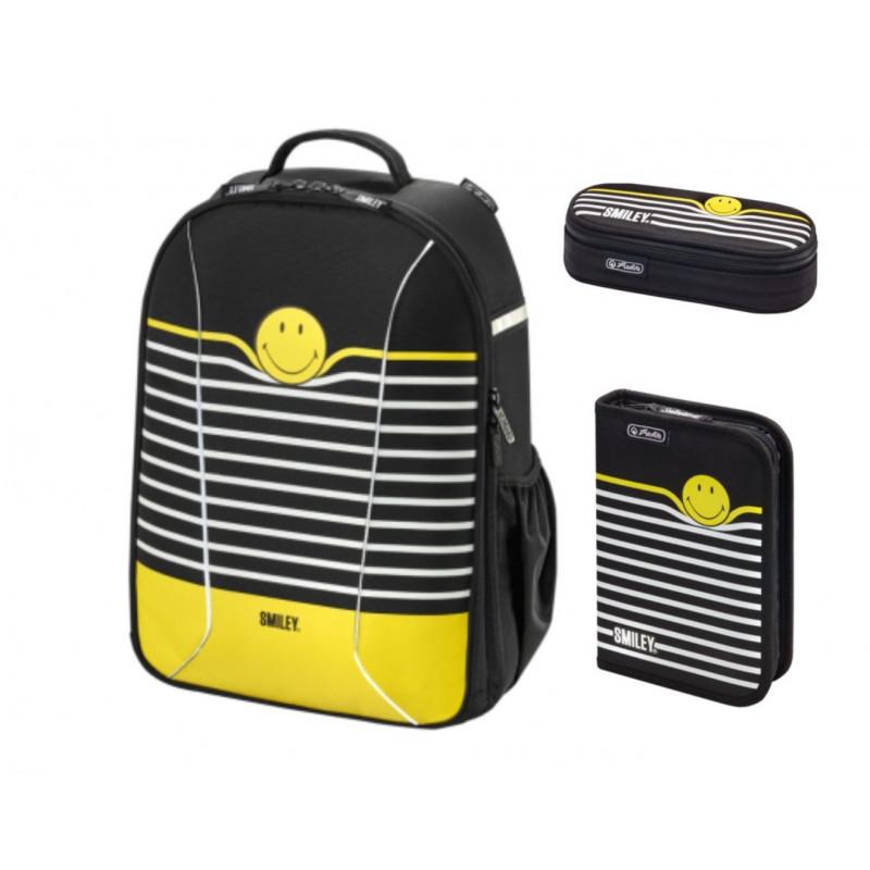 Set Scoala Herlitz Be.Bag Airgo Smiley World Black Stripes -