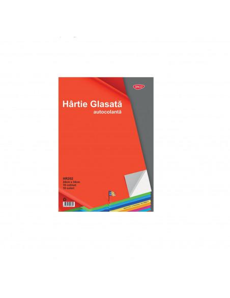 Hartie Glasata Autocolanta Lucioasa 10 File/Set Daco