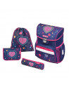 Set Scoala Herlitz Loop Plus Blue Hearts - Ghiozdan Ergonomic