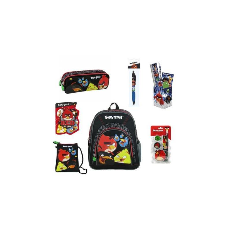 Set Scoala Angry Birds - Rucsac mic + Penar etui + Suport