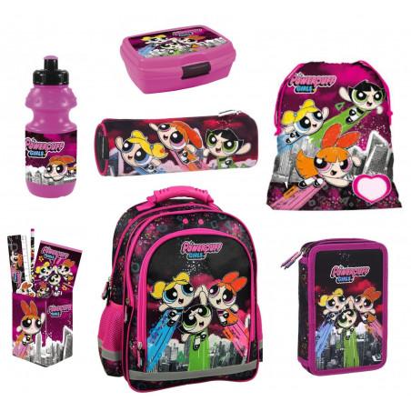 Set Scoala Powerpuff Girls 1 - Ghiozdan, Penar Echipat, Etui