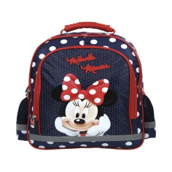 Set Scoala Minnie Mouse - Ghiozdan, Penar Echipat 2 Fermoare