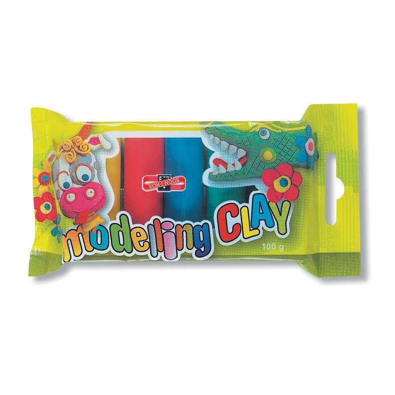 Plastilina Koh-I-Noor, 5 Culori, 100 G