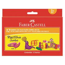 Plastilina Faber-Castell, 12 Culori Neon
