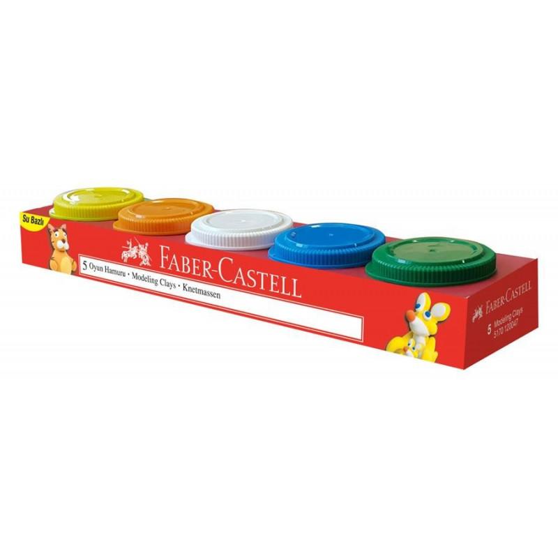 Plastilina Faber-Castell, 5 x 45 G