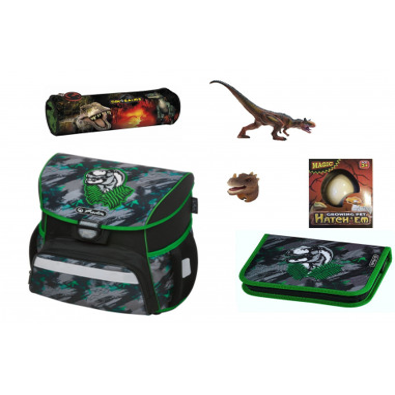 Set scoala Dinozaur - Ghiozdan ergonomic, penar echipat 1